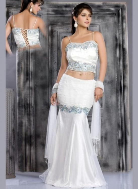 Indian Wedding Dress- Sophisticated White | Indian ...